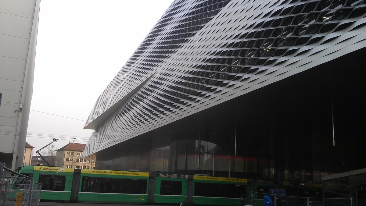 Messe Basel with tram