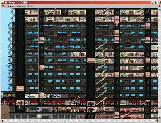 Sim Tower. Screenshot from AllVideo.org