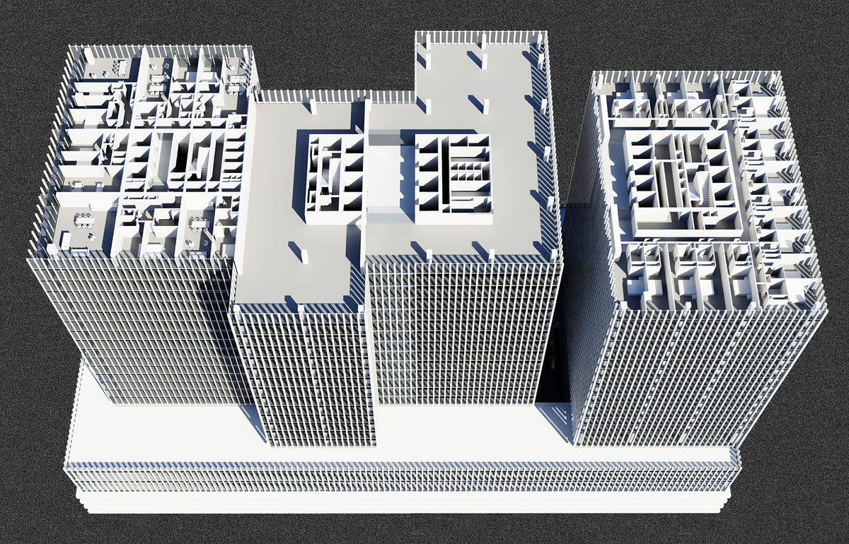 Perspective Plan, Low Rise. © OMA