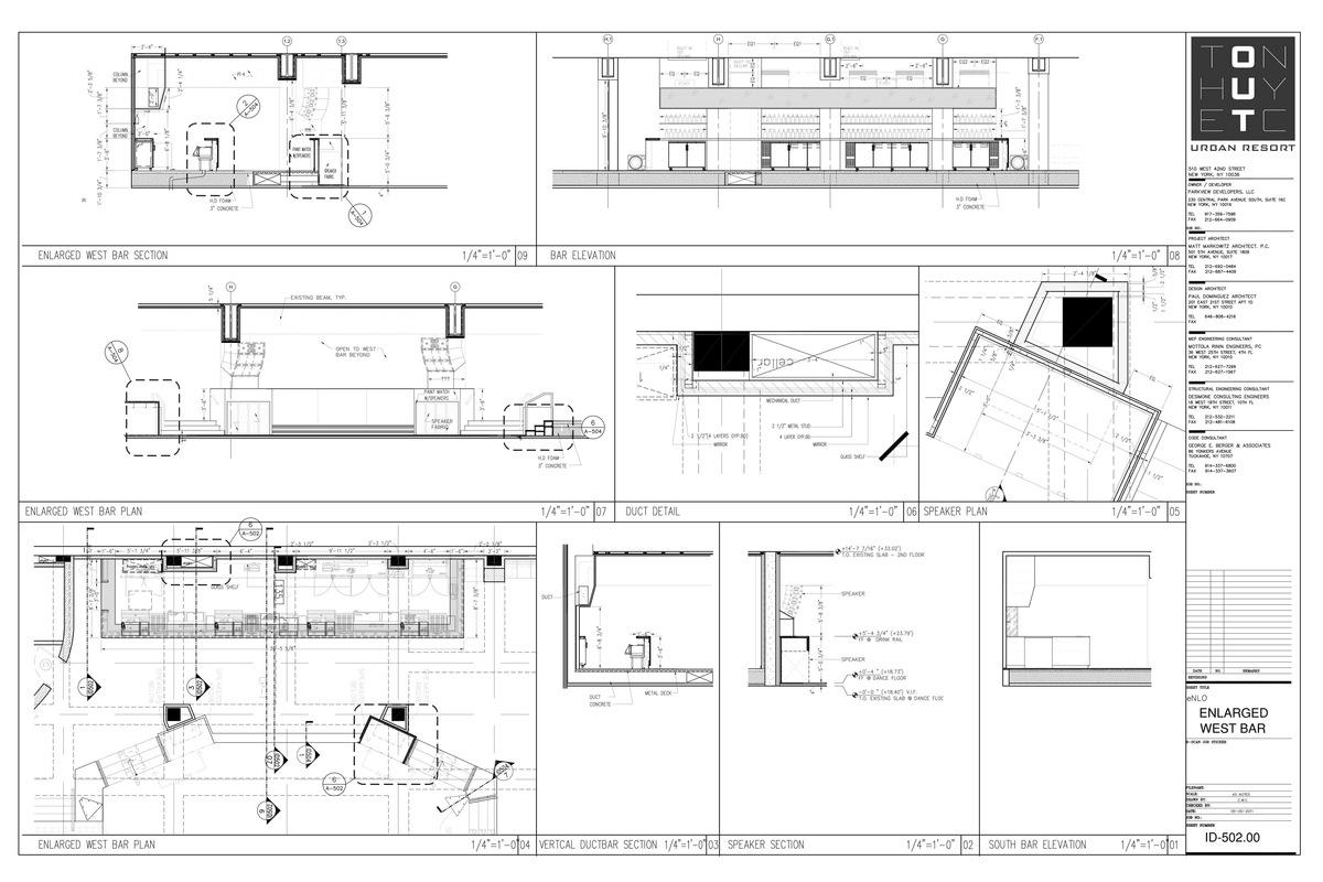 West Bar Detail- My sample drafting