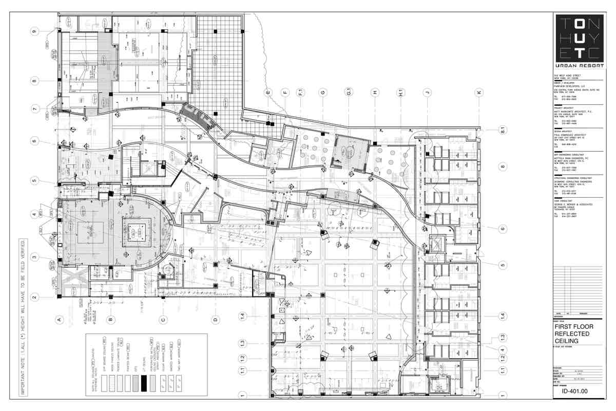 First Floor Reflected Ceiling Plan- My sample drafting