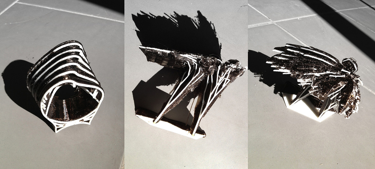 3d-printed models of various proposals (Photo: Elif Erdine)