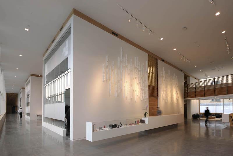 The reception lobby.