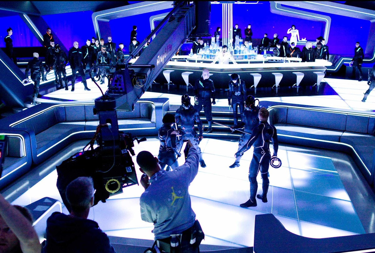 On the set of TRON: Legacy