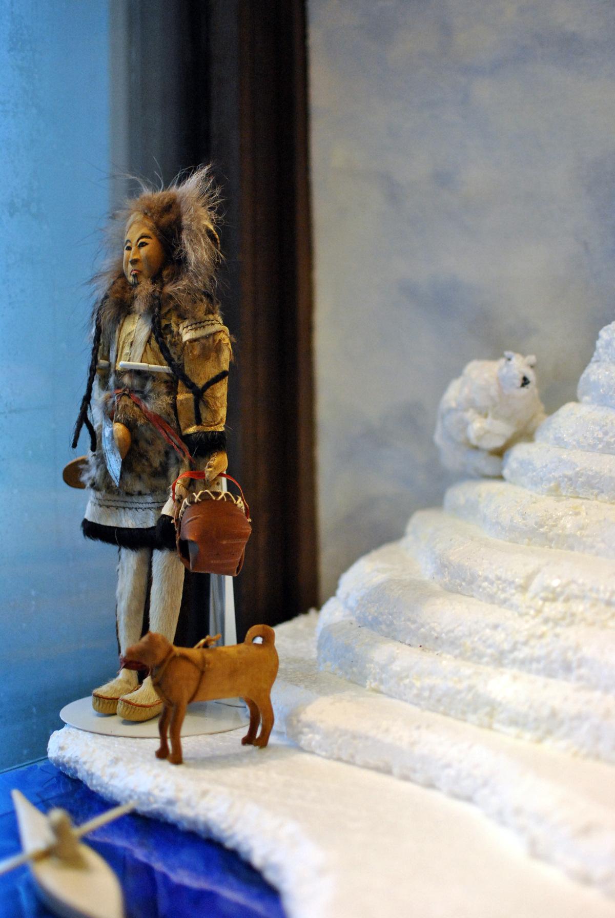 Inuit Doll (female) and Sled Dog