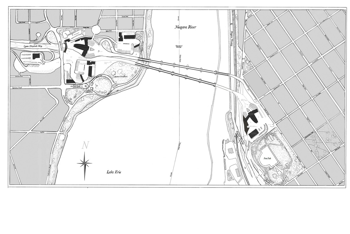 My Proposed Site Plan (ink drawing + Photoshop)
