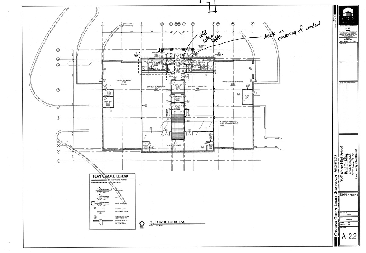 McEachern Band Building-lower level floor plan