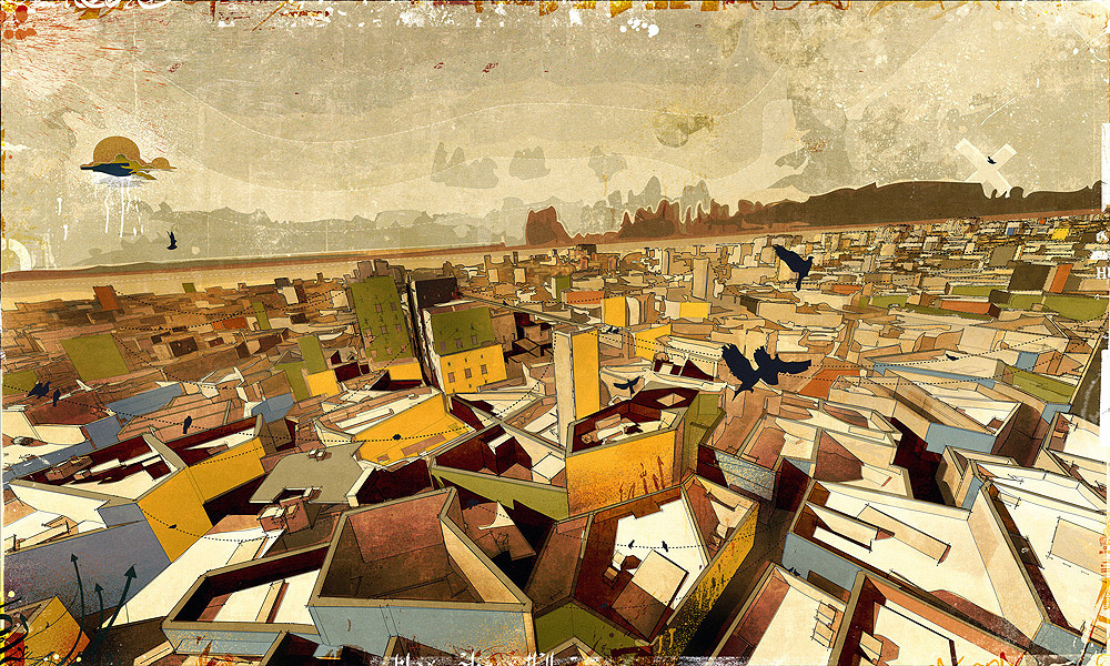 The Central-City Settlement, digital media on paper, [2008] 60