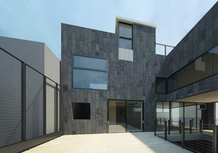 From terrace view to south facade. PAUL CREMOUX studio