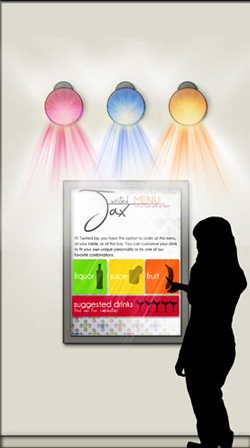 Twisted Jax Touch Screen Menu Elevation, AutoCAD and Adobe Photoshop.