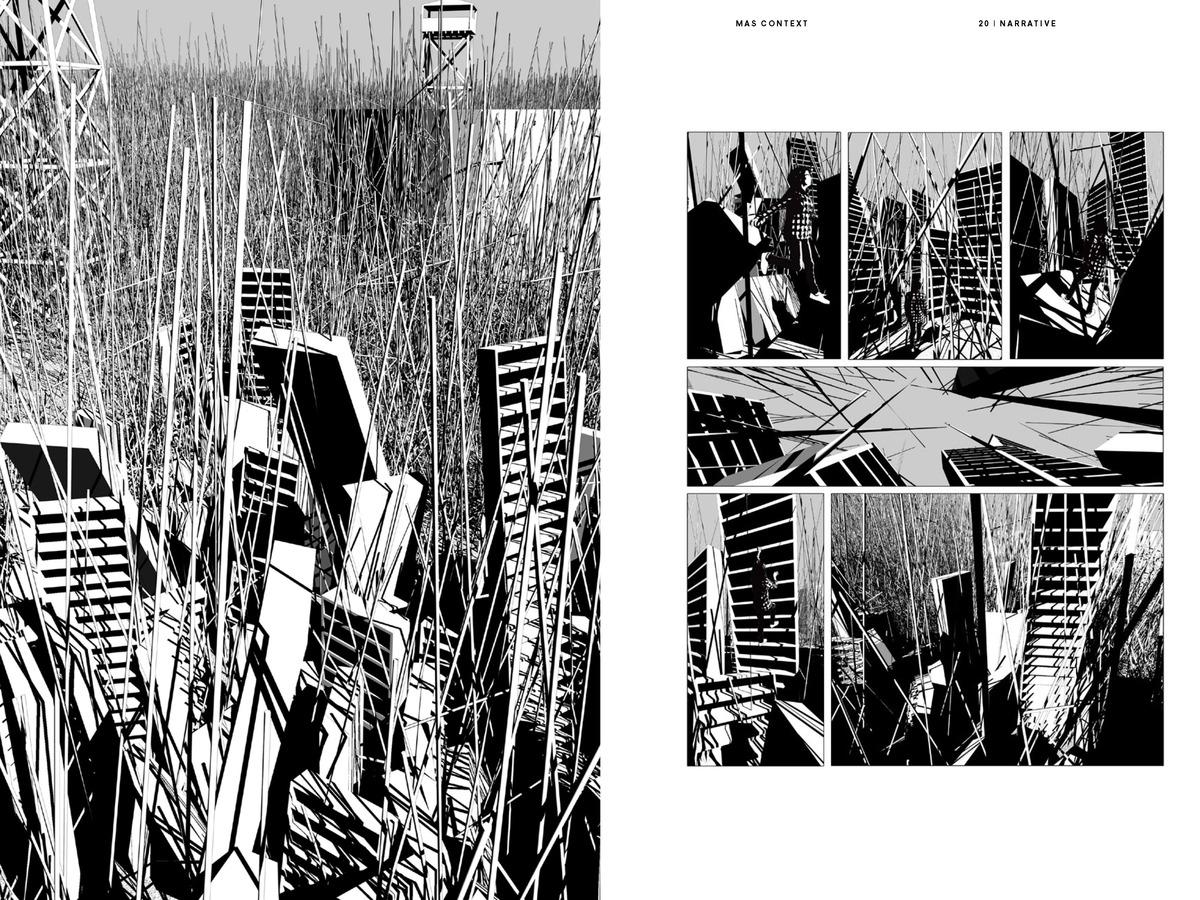 MAS Context Narrative. Lost in the Line (spread) © MAS Context