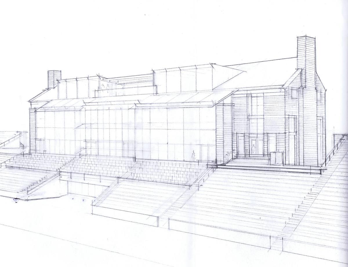Sketch - Field Side Elevation