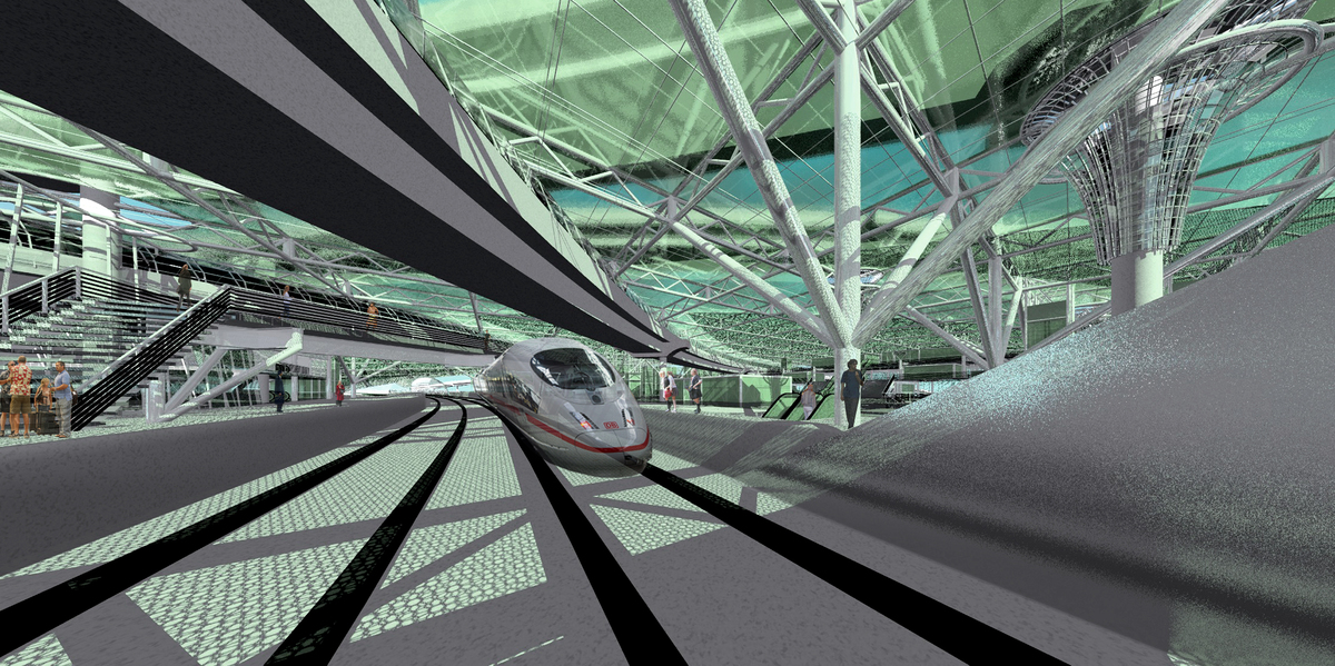 Green Line coming through the Grand Terminal