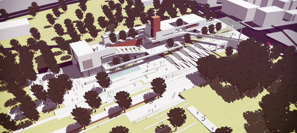 012 – AERIAL VIEW - Image Courtesy of ONZ Architects