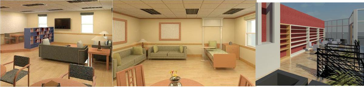 Revit: Broward General Hospice (Ft. Lauderdale, Fl.): Patient room