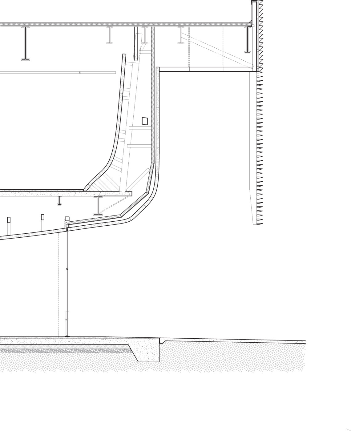 Section through door. Illustration courtesy of Trahan Architects