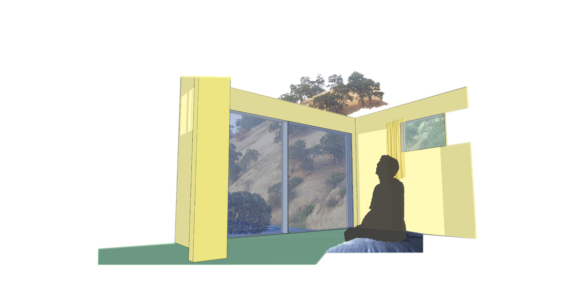 A perspective of the master bedroom, which revealed how close nature was.