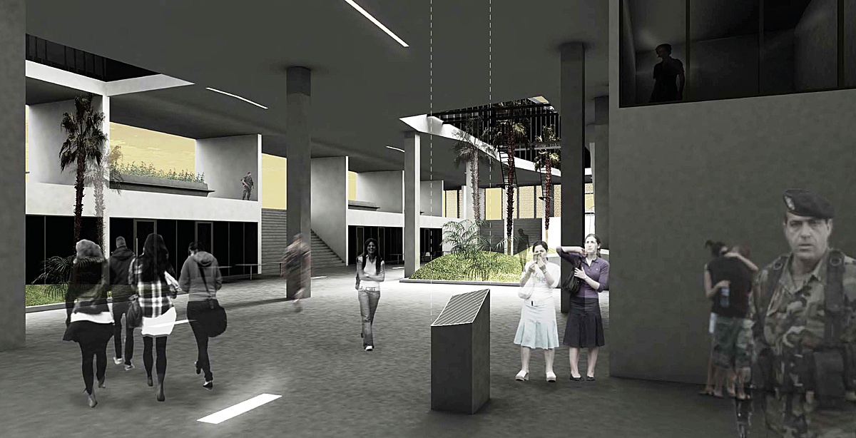 Within the plaza - public space; shopping & shelter