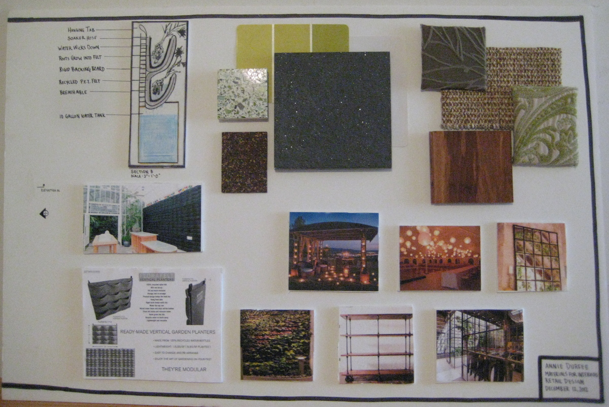 Material Selection, Vegetative Wall System, and Inspiration