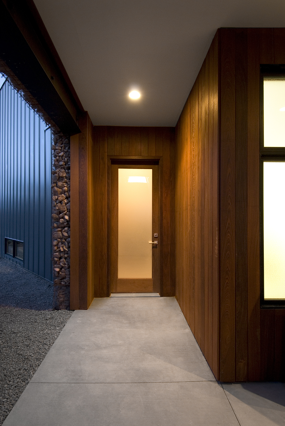 Entry - Ipe Siding and Door