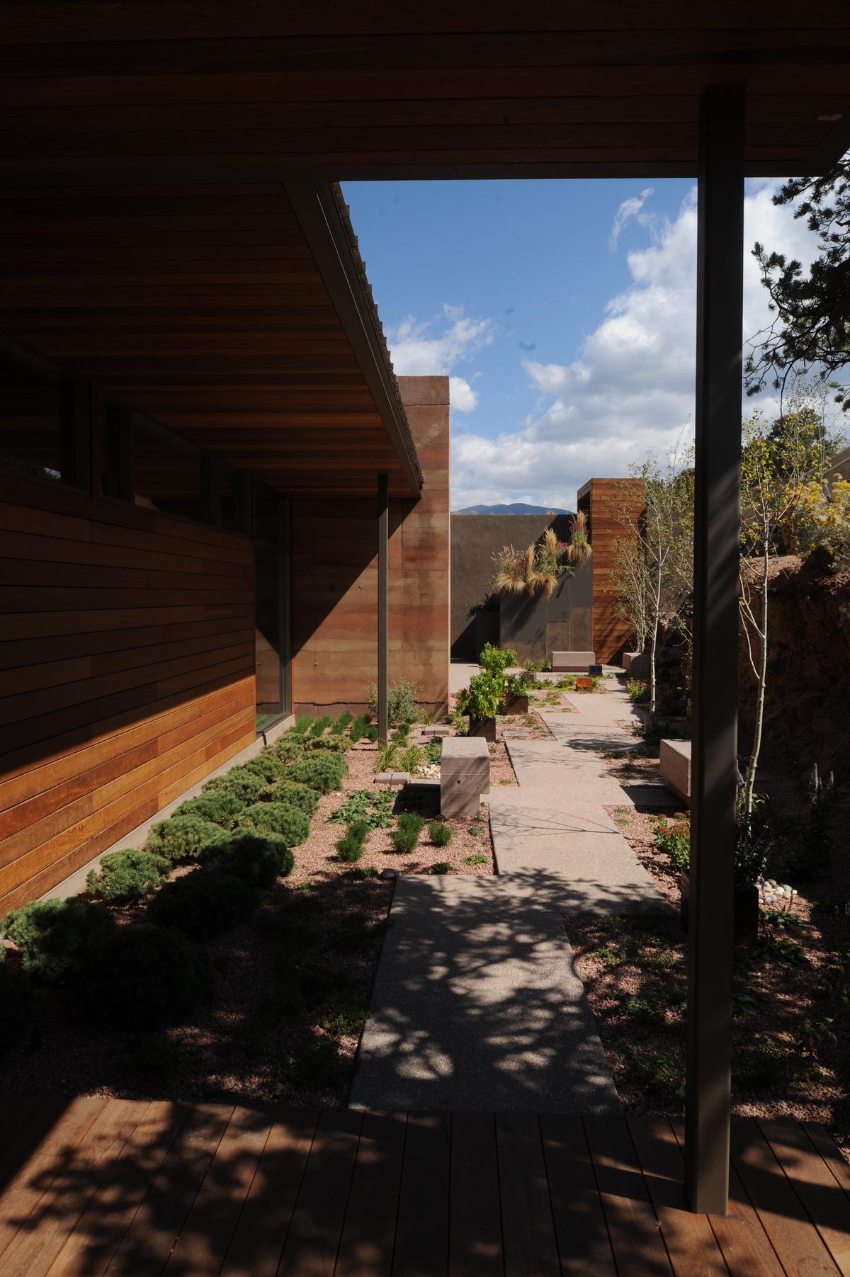 Shaded courtyard