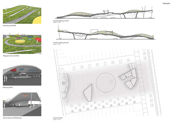 Sections, Ground Plan & Vignettes
