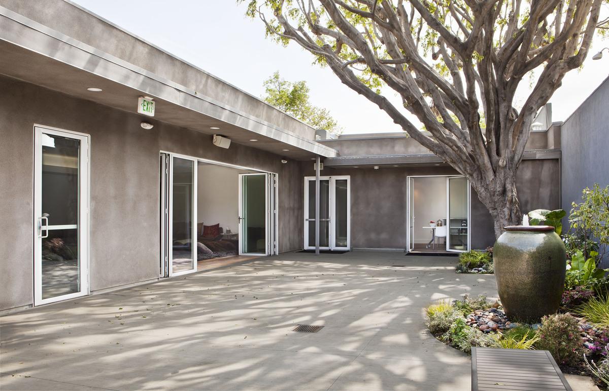 Retreat Center courtyard