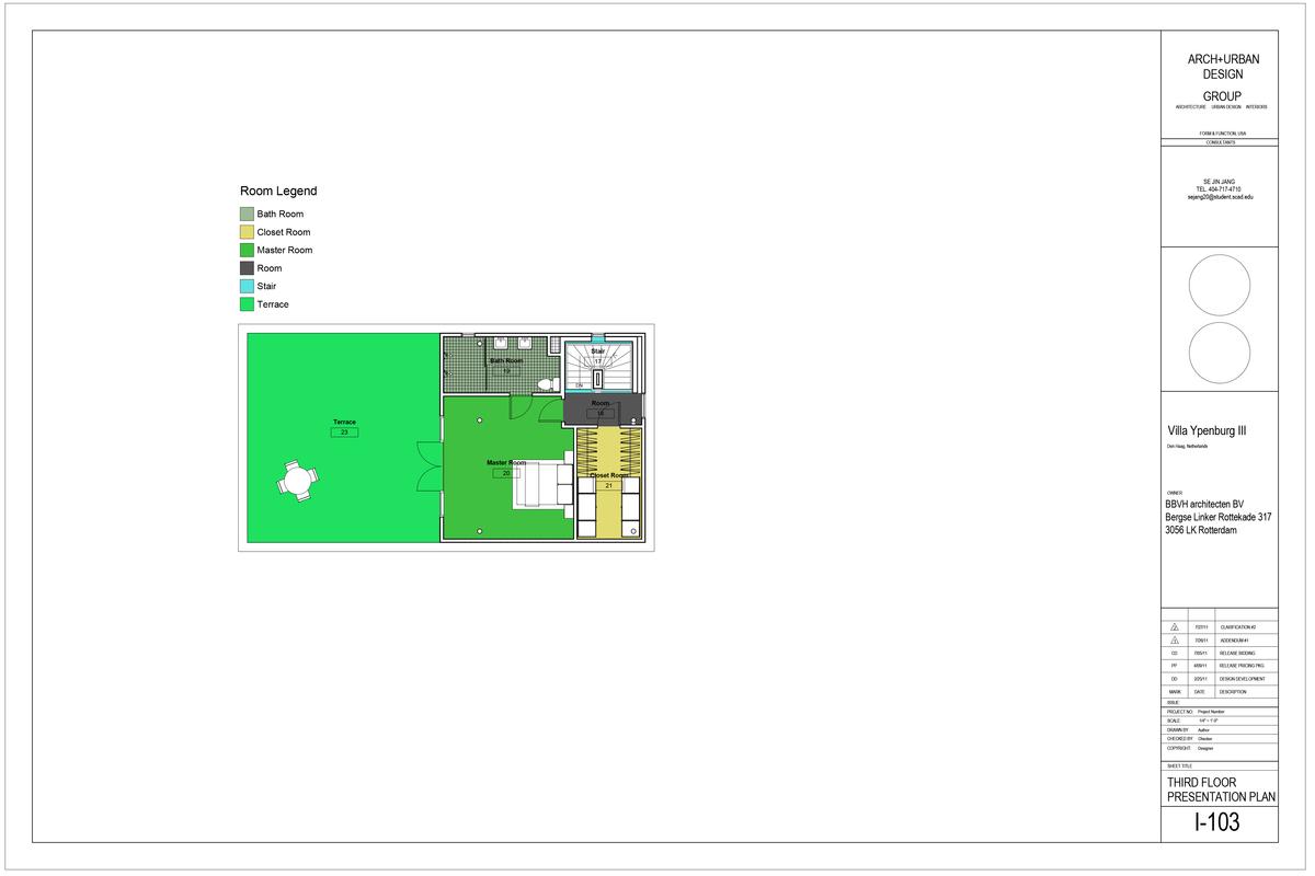 Third Floor Presentation Plan