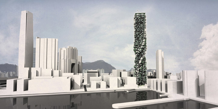 Overall view of tower at 20% occupancy stage (Image: Y Design Office)