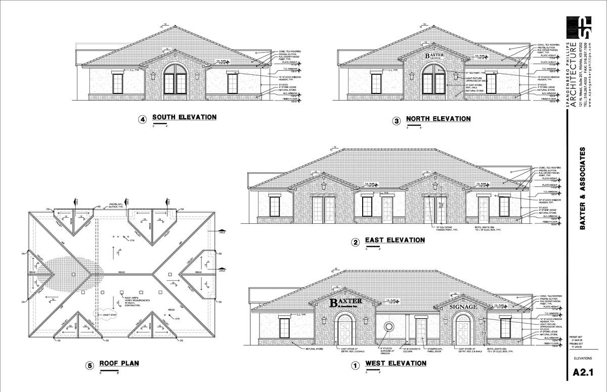 Baxter Elevations & Roofplans