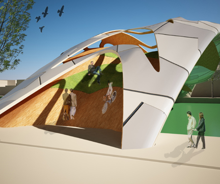 3d model in rhinoceros and rendered in 3d max with v-ray plugin