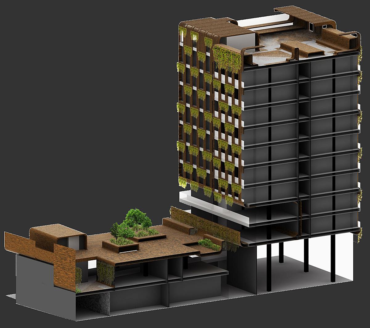 Green Plinth-Wall