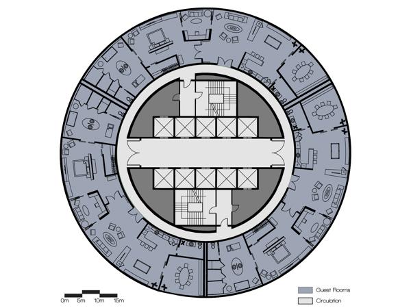 Premiere Suite Level Floor Plan.
