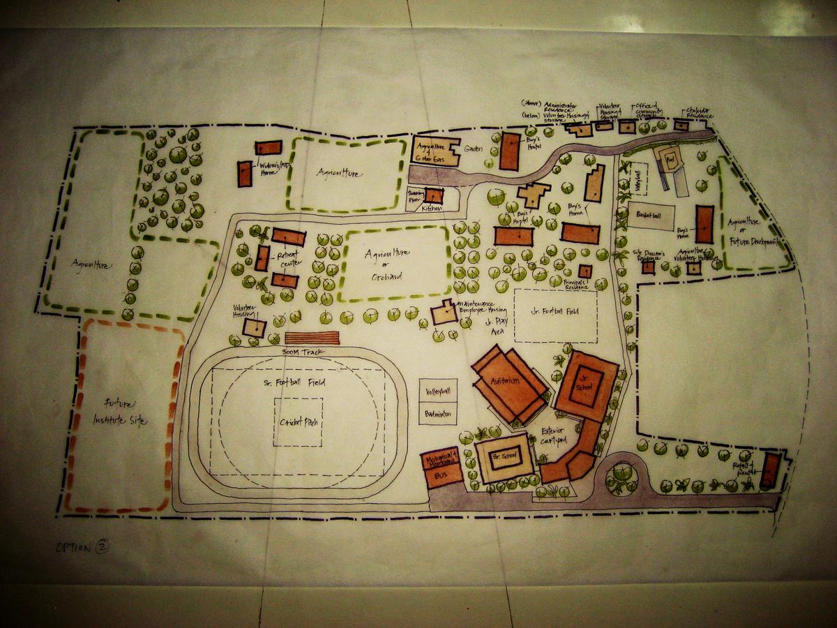 Schematic design sketch done on site