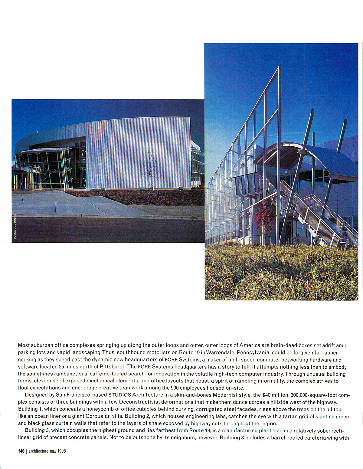 Page 3 - architecture: may 1998