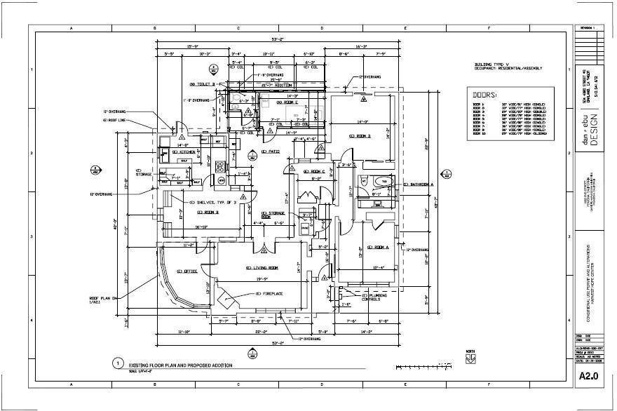 Conditional use permit drawings.