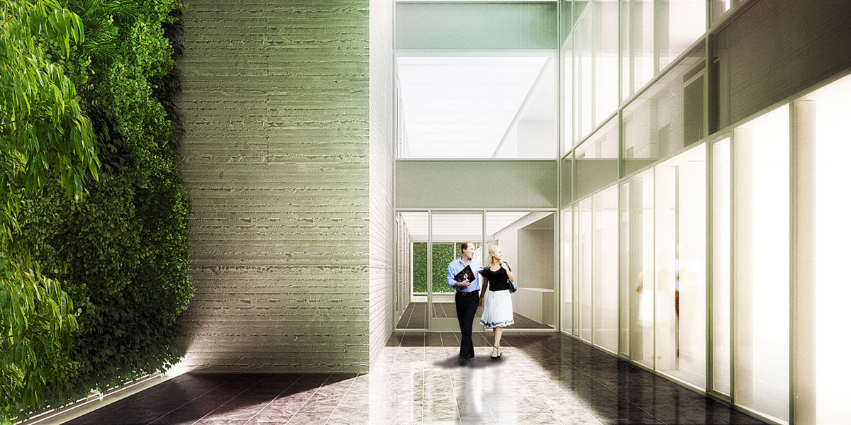 Leblon Offices - Courtyard