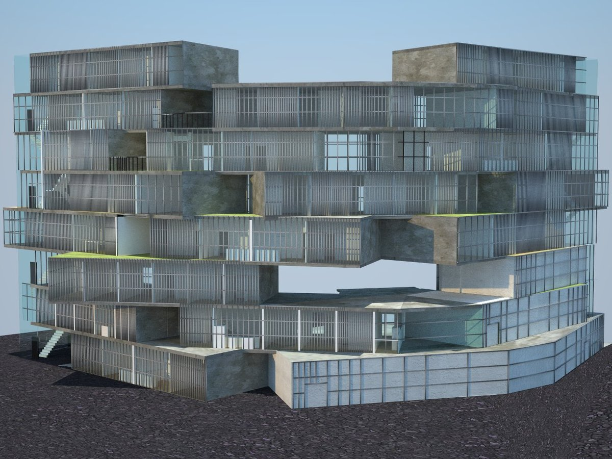 project rendering of residential side