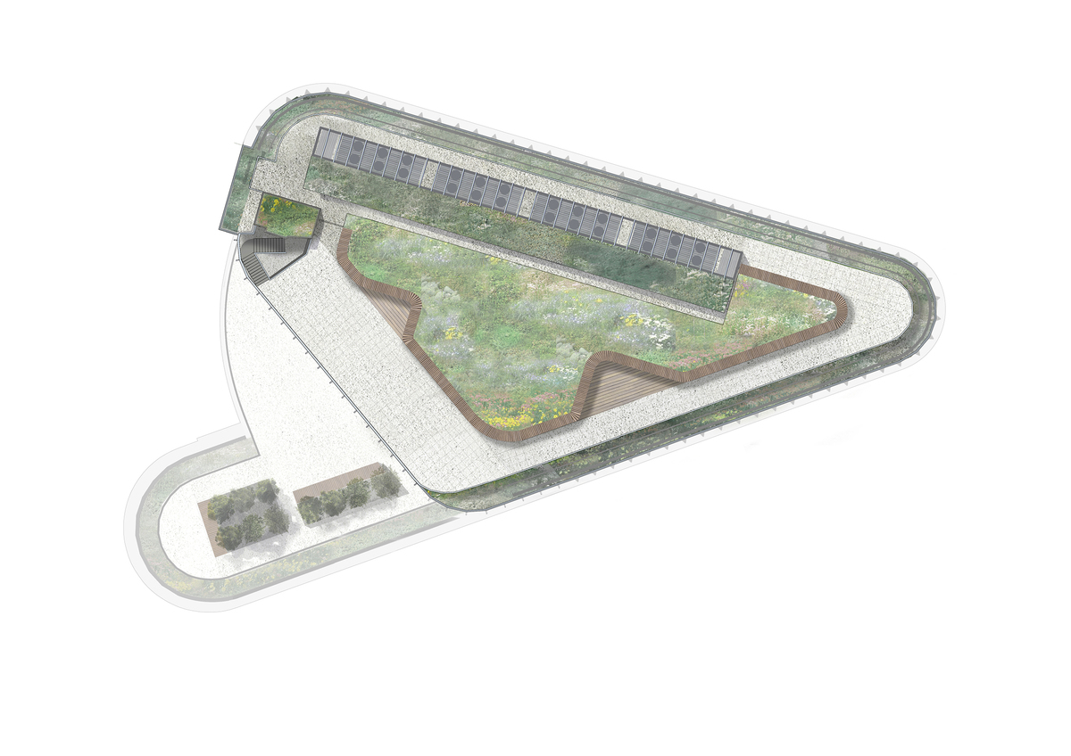 Plan of the new roof terrace