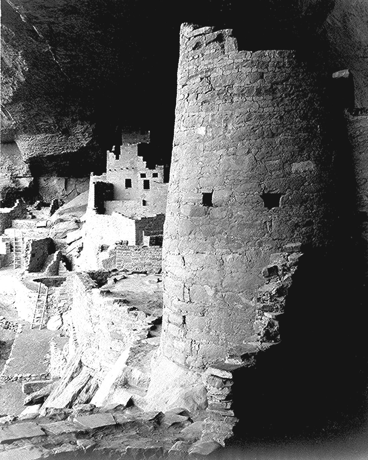 Cliff Palace in 1941 by Ansel Adams. Courtesy National Park Service