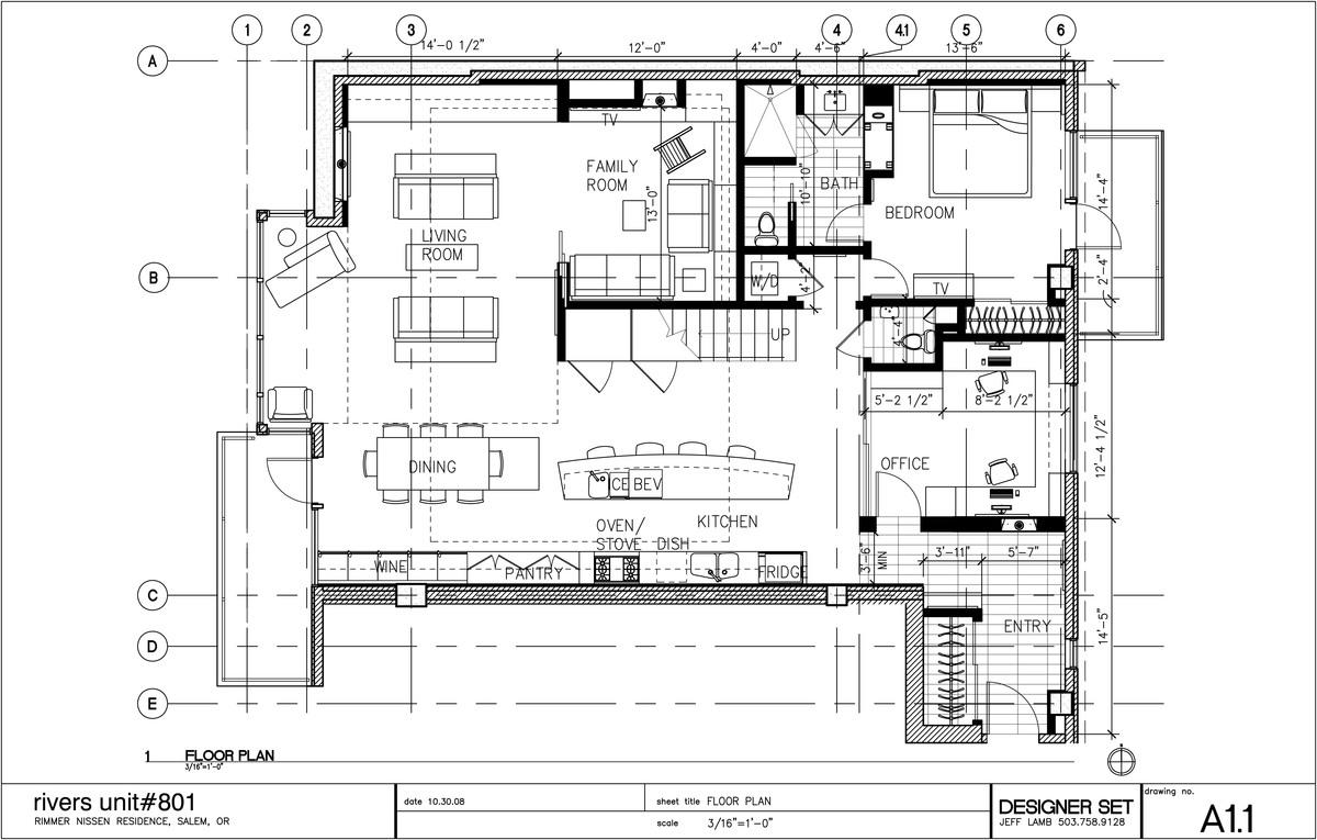 CAD floorplan created for unit