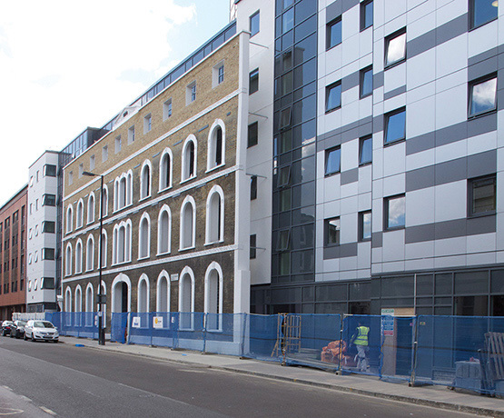 Shadow gap … UCL's New Hall housing, 465 Caledonian Road, has been declared the worst building of 2013. Photograph: Ellis Woodman/BD