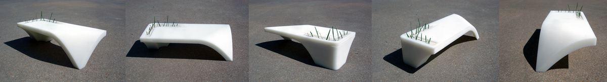 Noguchi Bench_3D Printed 1/16th scale Preliminary design