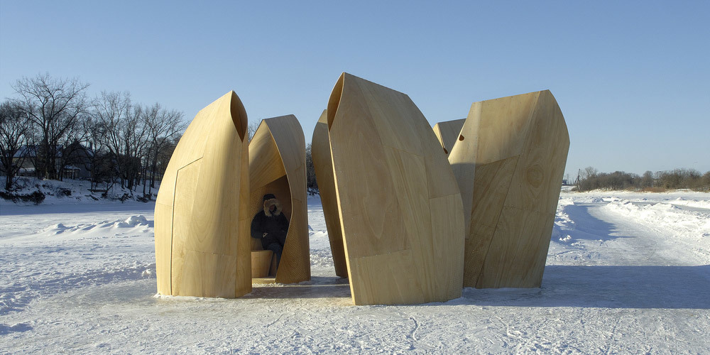 People's Choice - Architecture - Temporary & Demonstration: Winnipeg Skating Shelters by Patkau Architects