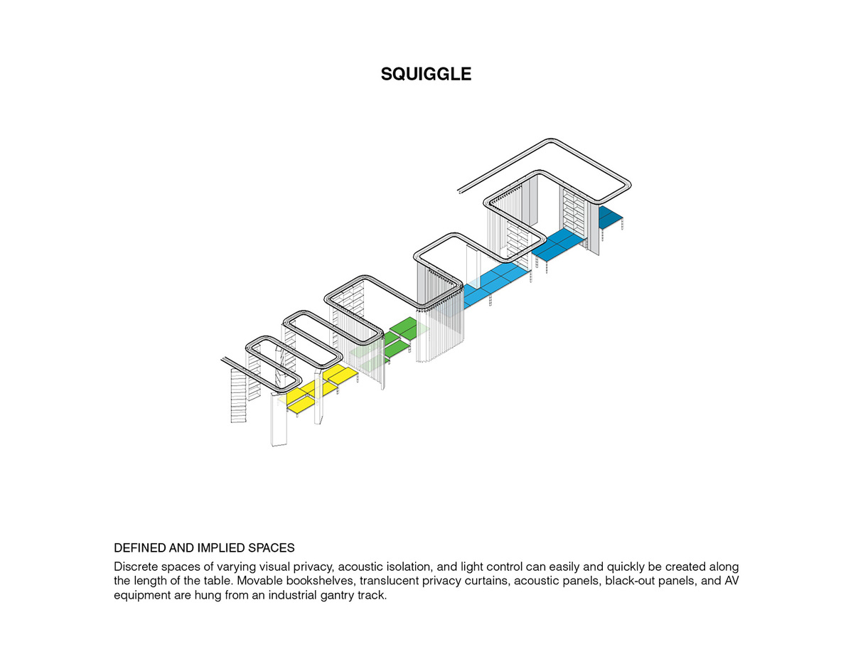 Defined and Implied Spaces. Ground/Work Competition Finalist Entry by Of Possible Architectures. Image courtesy of OPA.