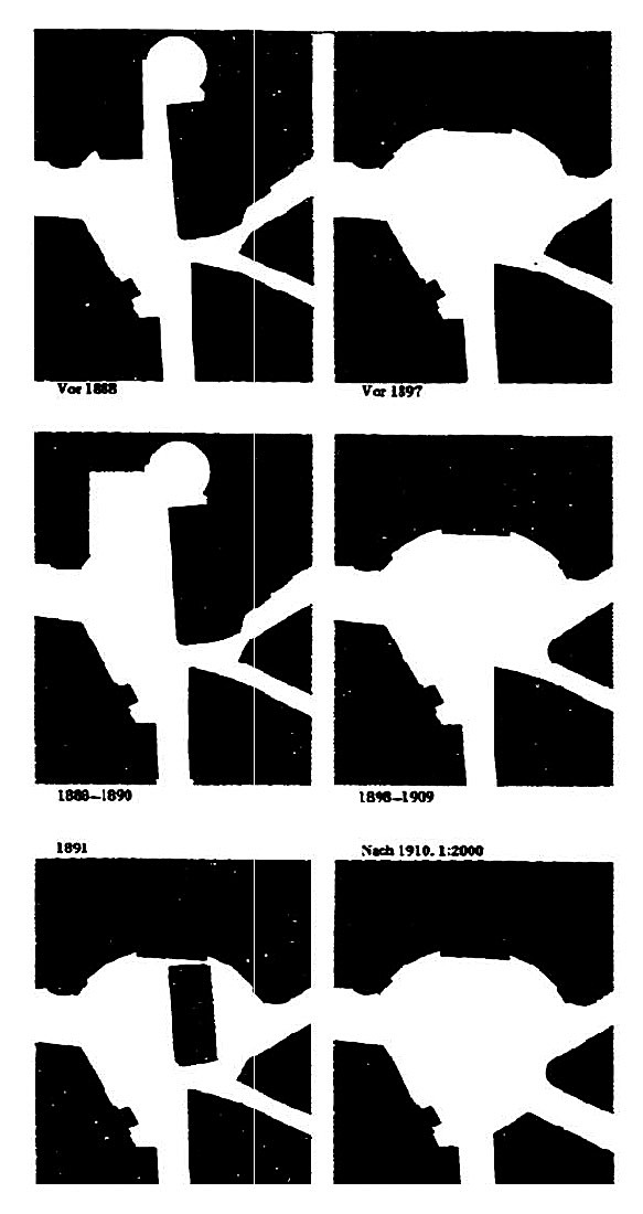 Figure 3 - Michaelerplatz before and after Looshaus