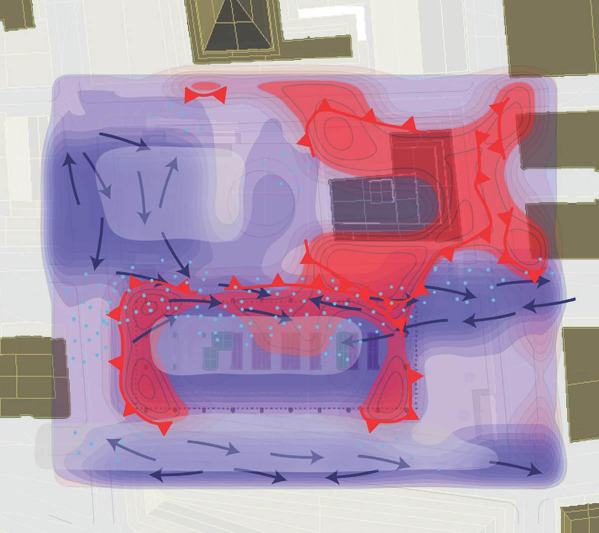 Map, interaction of intensities, of focus.