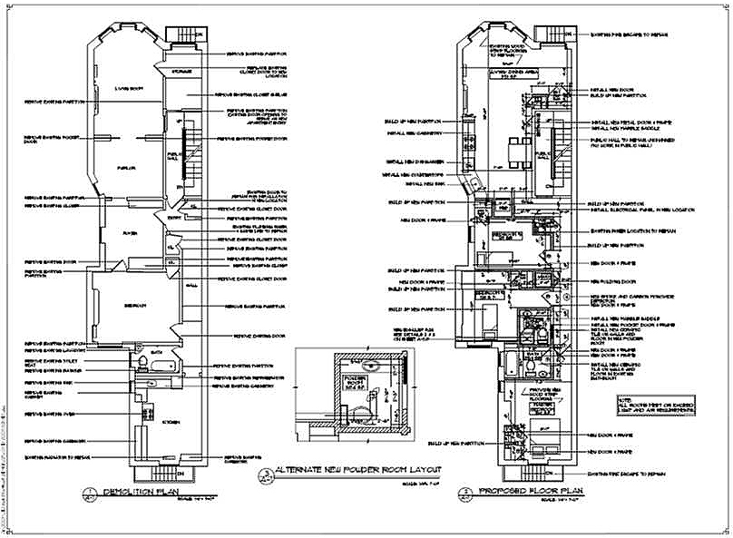 DEMOLITION AND PROPOSED PLANS