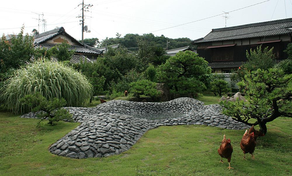 Naoshima, Japan Fountain in a Ryokan Garden, 2010 Built, Yoshinobu Aiba and Logan Amont