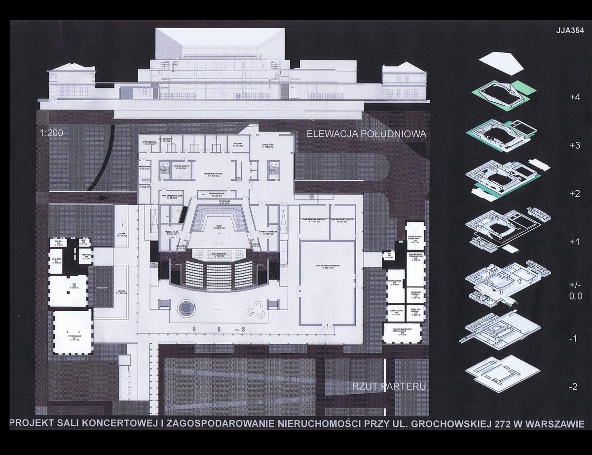 Ground level plan and front Elevation